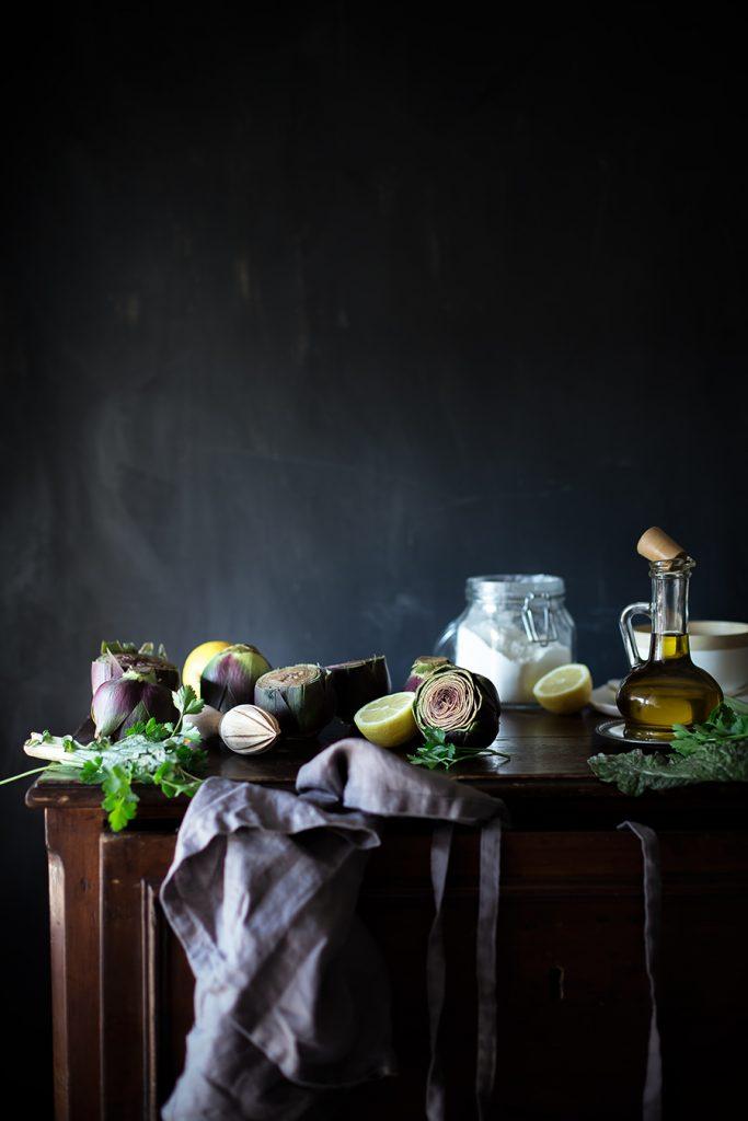 Gnocchi di ricotta ai carciofi, pinoli e zafferano