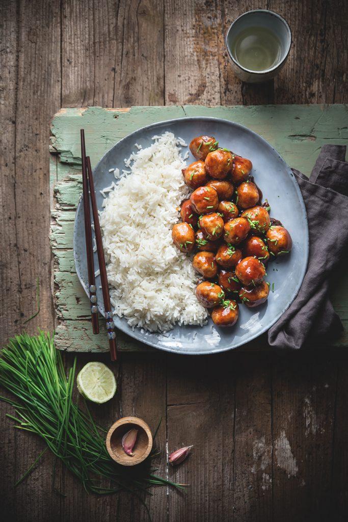 Polpette di pollo in salsa agrodolce