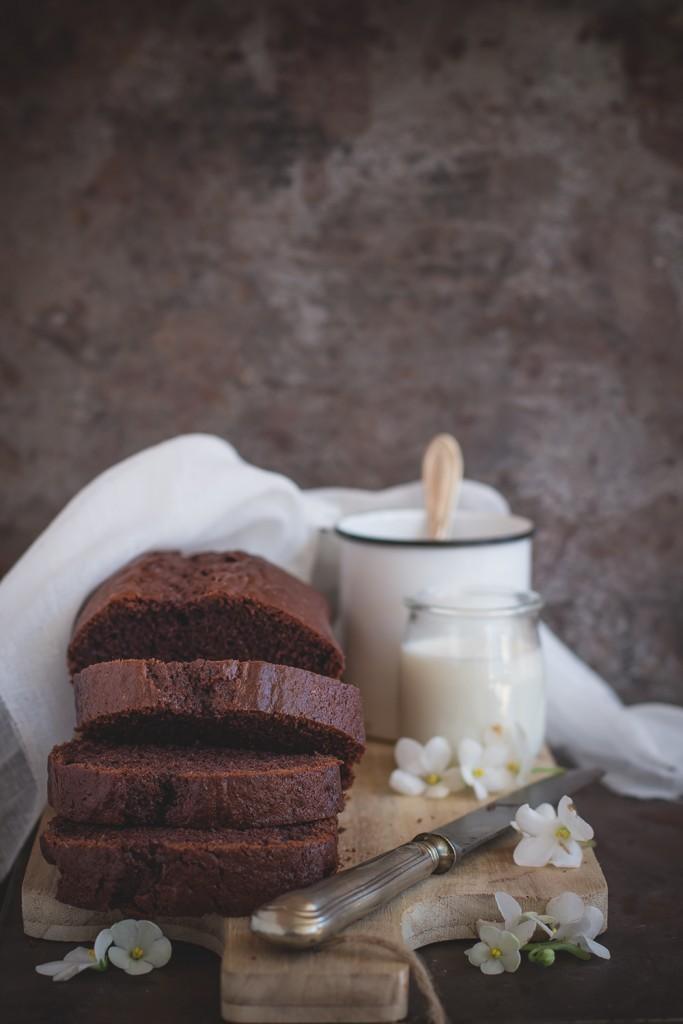 Plumcake al mascarpone, caffè e cacao