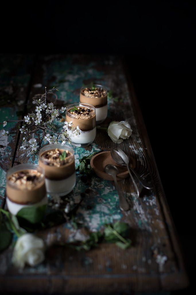 Panna cotta al cocco, caffè e nocciola