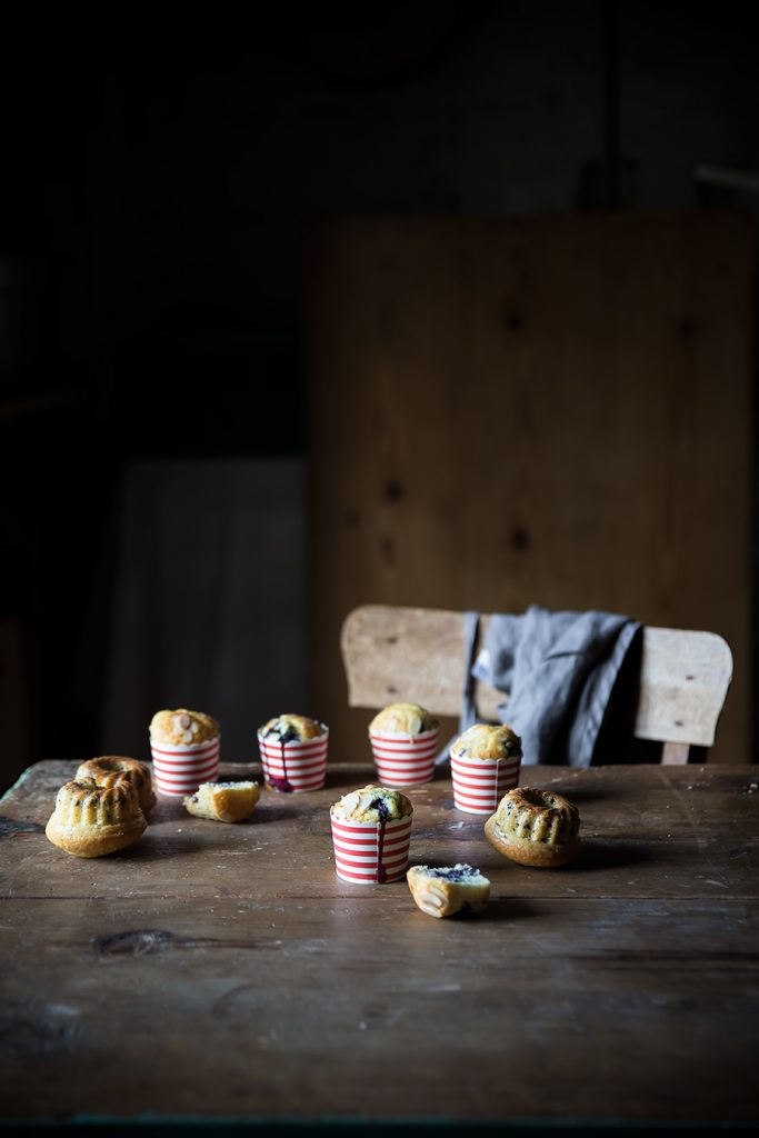 Muffin alla ricotta e mirtilli